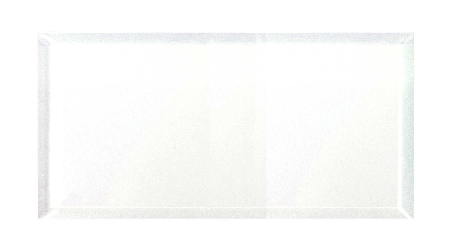 Abolos- Frosted Elegance 8' x 16' Glass Backsplash Tile in Glossy White (16sqft / 18pc Box)